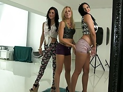Missy Martinez and Ava Cash and Zoey Monroe threesome lesbian get together