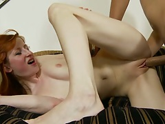 Kira Lake moans while dick enters her pussy and does an pussy creampie
