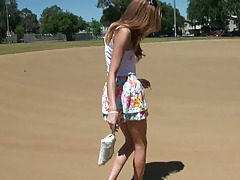 Outdoors with 18 years old Victoria Rae Black