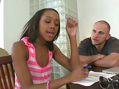 Porn audition with a first timer ebony cutie Monicka