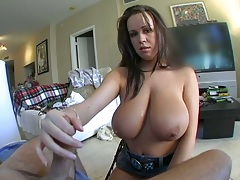Brandy Talore handjob and cowgirl big ass fuck