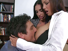 Hot big tits office babes Danni and Emmanuelle