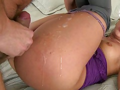 Deepstick fucking oiled up ass Nikis with pants down