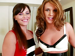Two chicks like ass licking and assplay with Roxy Raye and Alysa