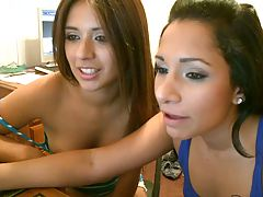 Two teens having a web chat