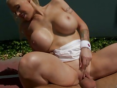 Big tits Teenis babe Candy Manson reverse cowgirl