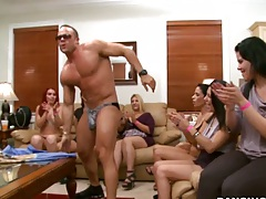 Dancing bear getting blowjobs and group slut party