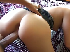 Pov latina doggy style fuck with Shay Parker and pump from the front