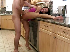 Mahine sits on cock anal reverse cowgirl