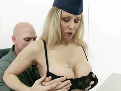 Big tits flight school commander Julia