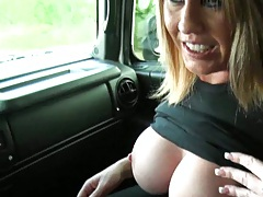 Hot dirty talking milf goe sfor a drive with us