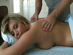 Oil gf massage with SamanthaSexg on the table