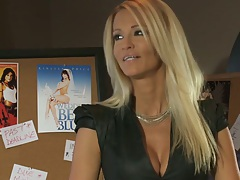 Blonde babe jessica drake in the office looking mighty good