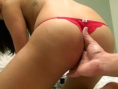 Jayden Lee gets ass fingered and slowly cock inserted for first time anal fuck