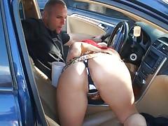 Gloria hot latina sucking cock in a car