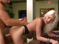 Blonde milf Kaycey gets a taste of Levis large cock
