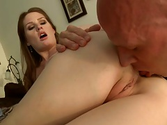 Eating out nice shaved pussy ass milf and reverse cowgirl ride