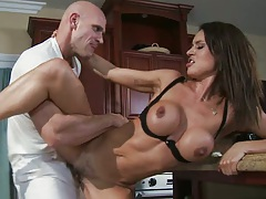 Milf Franceska hard fucked standing up and sucks