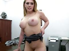 Sideways penetrating amaizing round ass with big tits