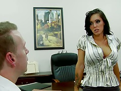 Jenna is a busty mil at work needs cock