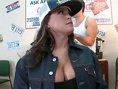 Big tits in uniform with Brandy Talore