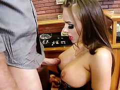 Nika sucksing cock and titty fucking