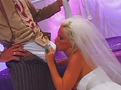 Taylor J and Luisa Demarco fetish and face sitting with bondage from bride