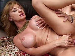 Hot big tits milf fucked hard and mouthful cumshot