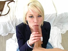 POV blowjob from Ash on her knees sucking