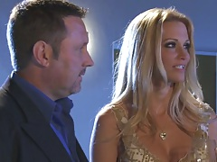 jessica drake a horny blonde moving down to guys pants to suck dick