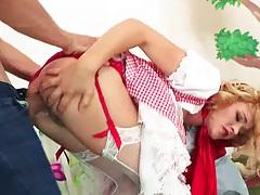Bending over lingerie anal entry for Krissy Lynn