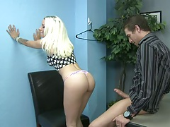Office blonde fucked on desk Stevie Shae