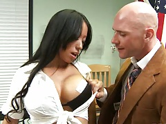Asian big tits student Gaia goes naked for teacher