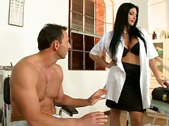 Aletta giving a nice medical exam