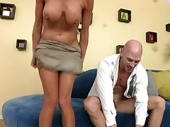 Undressing milf Veronica Avluv cowgirl sex with moaning sounds