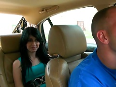 Going for a drive with cute latina