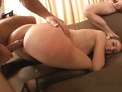 Anal ripping with anal dildo for Kelly Wells poor ass
