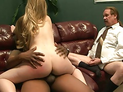 Cuckold guy watches wife ride another mans cock with Tera Knightly