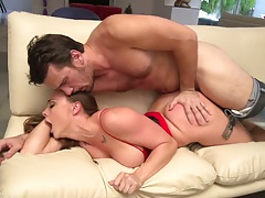 Doggy style penetration with no panties girl Chanel Preston