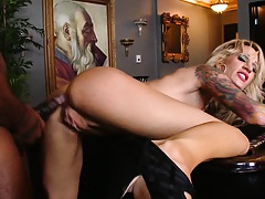 Milf lays her big its on a pool table for a fuck