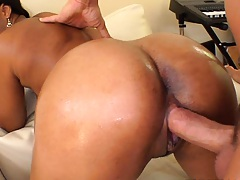 Imani Rose fucked from behind into her shaved cunt