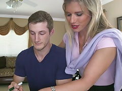 Milf and teen Cory Chase and Sadie Kennedy teaching sex lessons