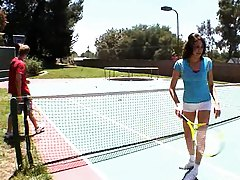 Tennis Coach Katie Angel is also a penis coach