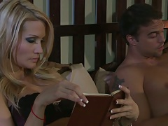 jessica drake reading a book and dude wants to fuck her