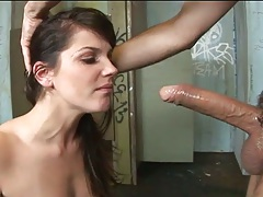 Rough blowjob and sex with Bobbi Starr getting nailed