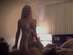 Blonde slut Becky filmed with set up cameras