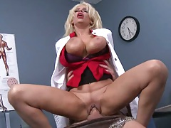 Doctor with big tits milf Holly Brooks on dick riding and doggy style