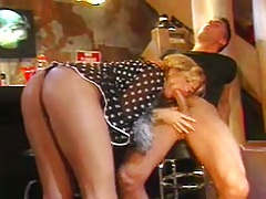Blowjob with Sophie Evans and doggy style hardcore