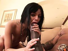 Sadie Sucking gigantic cock then bends over for it