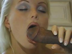 Interracial hot blonde babe Silvia Saint blowjob and hardore fingering